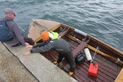 La crainte des enfants de partir toute la journée sur cette barque..
